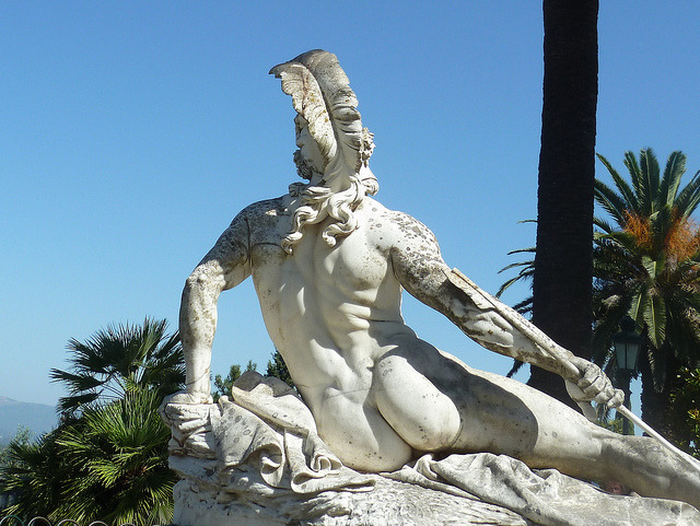 Achilleion on Flickr.Corfu's most photographed guy - Achilles ;-)