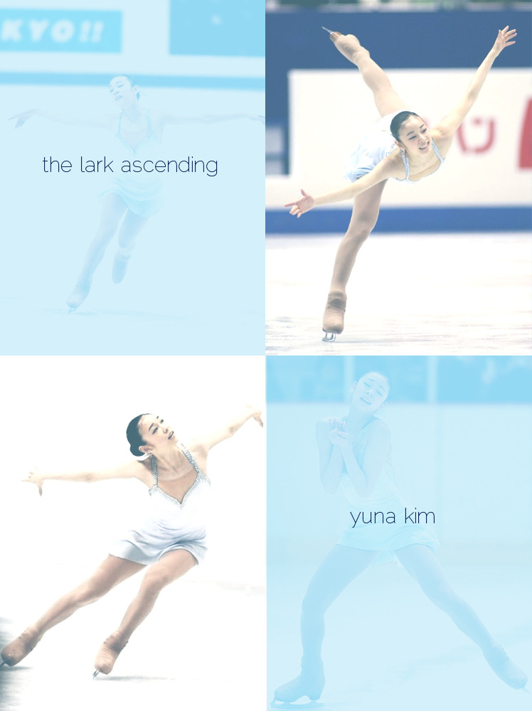 9ri:  Day 8 - Favorite Ladies' Program  The Lark Ascending by Yuna Kim I know that this wasn't Yuna Kim's best performances ever (and she was so young in here!) but the program was so delicate and light. It was very uplifting to watch.   i think it's one of the best performmances of her :) even though there's no clean version. the music was good on her, and her expressions were very nice. it's very touching program.*_*