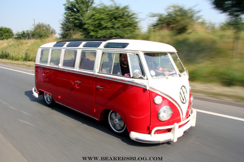 beakersblog:  Cruising down to the Prept Track Attack meet at Brands Hatch with the Balls'd crew and Andy the Paint with his gorgeous Splitscreen Samba