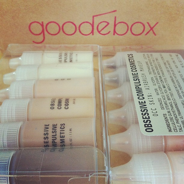 Today's deliveries: an all natural goodebox and a mini set of #OCC Skin which contains #phenoxyethanol. To say that I'm conflicted would indeed be an understatement. Hey, I'm in transition. (Taken with Instagram)