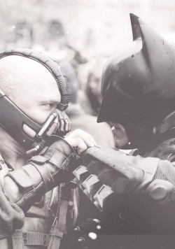 The Dark Night Rises - Tom Hardy and Christian Bale
