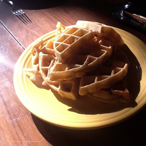 The requested waffles. (Taken with Instagram)