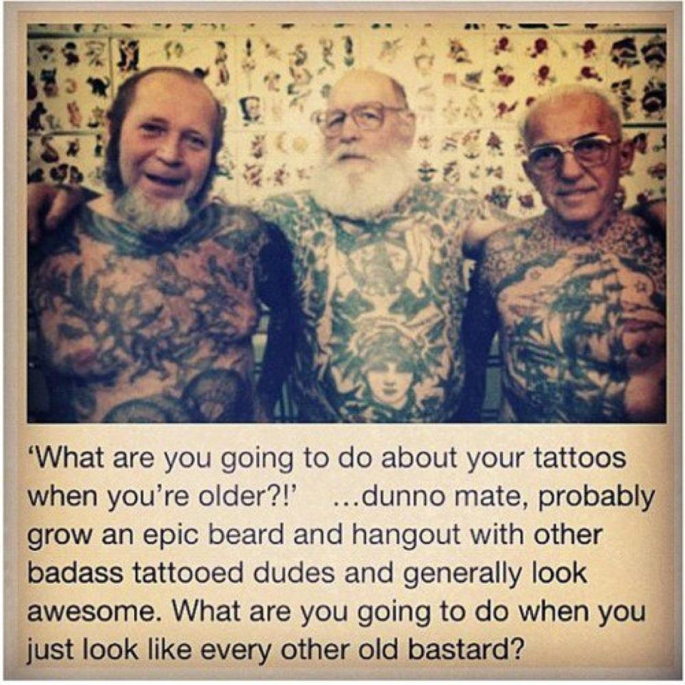 What are you going to do about your tattoos when you're older?! - Imgur