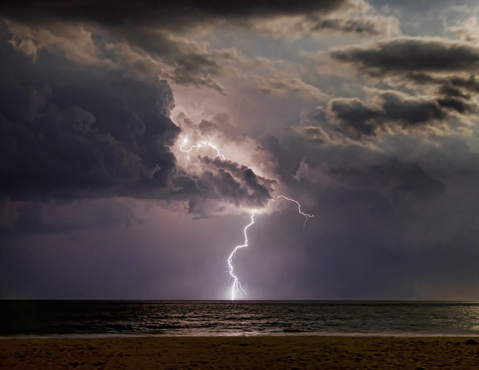Photo of the day: Taken as a lightning storm was going out to sea after it passed over Long Beach Island, New Jersey.  Photo by: James Wasneuski (Aberdeen, New Jersey);Long Beach Island, New Jersey