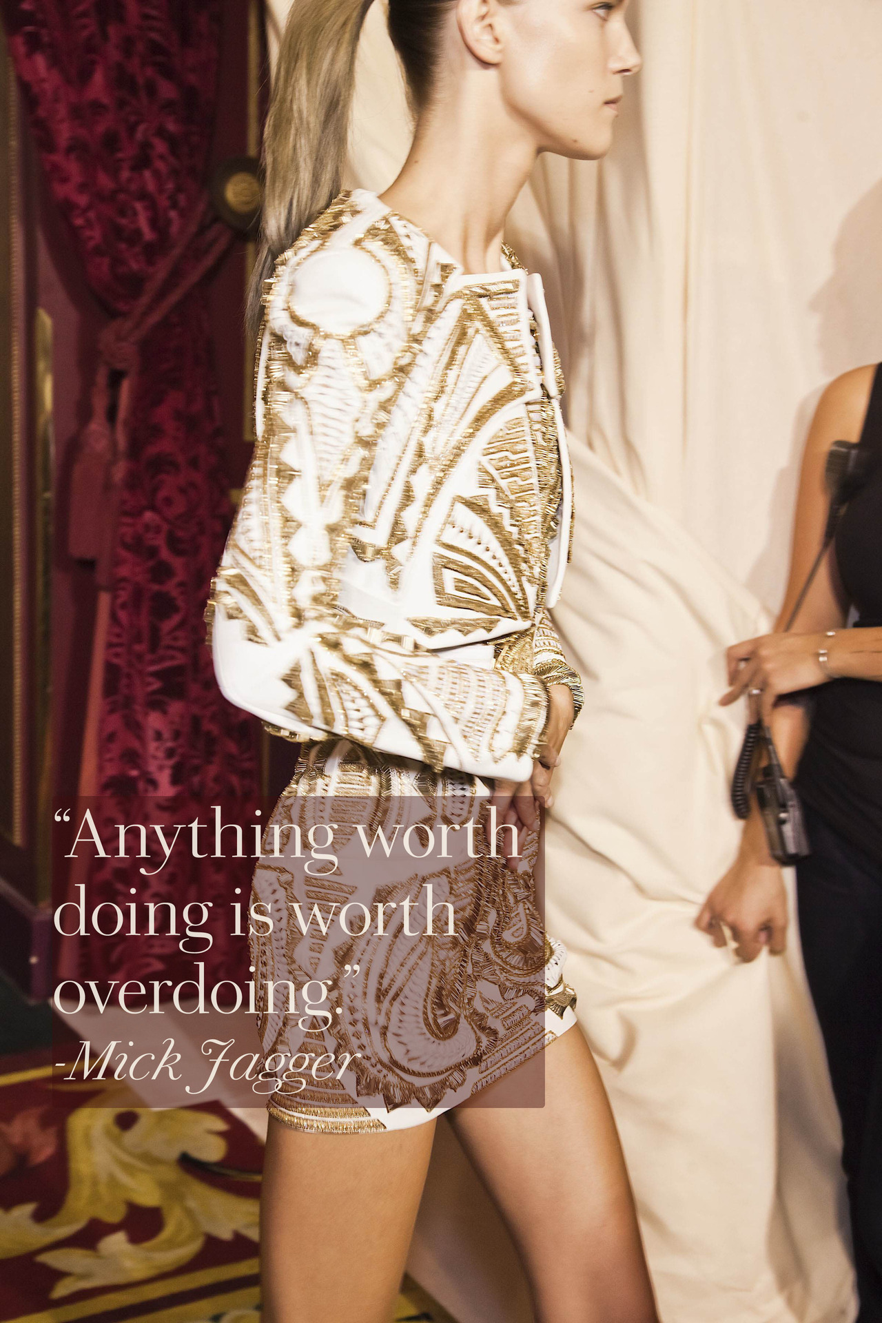 glamour:  Balmain, Spring 2012. Photo: Mark Leibowitz / Design: Kathleen Schenck