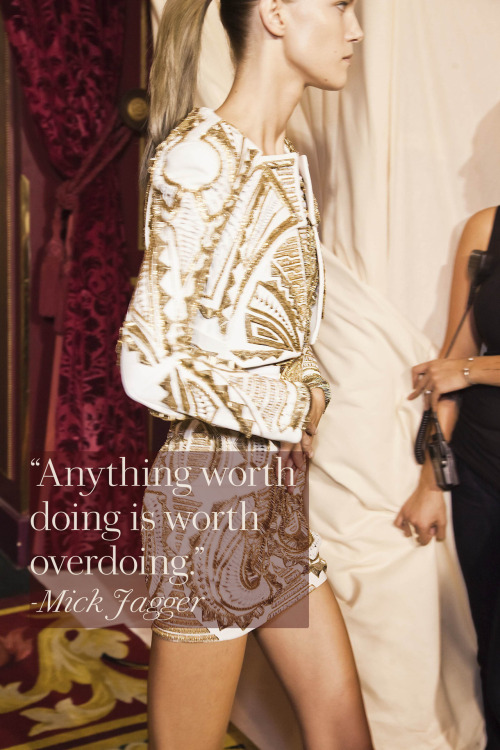 Balmain, Spring 2012. Photo: Mark Leibowitz / Design: Kathleen Schenck