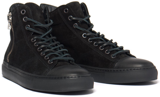 Wings + Horns High Cut Suede Sneakers Black