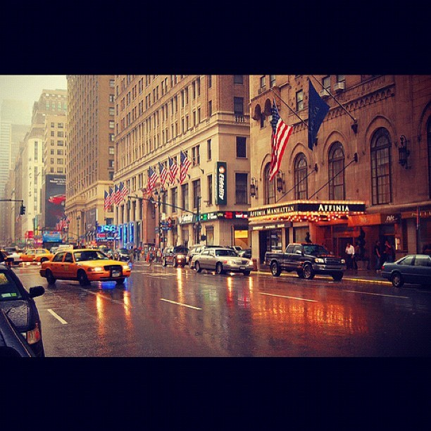 #lovenyc #instamillion #rain #rainyday #affiniahotel #nyc #newyorkcity #manhattan #city #yellowcabs #newyork #midtown #weather #instagrammer #instago #pic #photo #thursday #igdaily #instacool #instamood #igers #jj (Taken with Instagram at New York, NY)