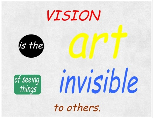 Vision … a great skill to develop. Is it one of your strengths?