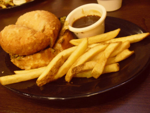 This is what diet really means. :)) Zark's Deep Fried Burger. :)
