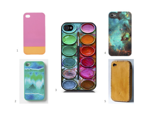 Give Your iPhone a Splashy New Look.  The latest cases out there have me jonesing for an update.  The bright pallets and (mostly) rubbery textures are reminicent of my past desires for the latest, greatest and brightest Swatch Watch guards.  Some things never change; my desire to accessorize is as strong as ever.  Check out the above cases: 1 here, 2 here, 3 here, 4 here and 5 here.