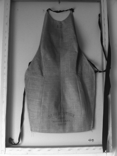 Martin Margiela.  Spring/Summer 1997.  I mounted this on the reversed canvas.  One of my favorite collections.