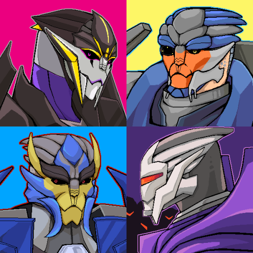 Airachnid, Breakdown, Dreadwing and Steve the Eradicon!! More Decepturianz and Turianbotz xD