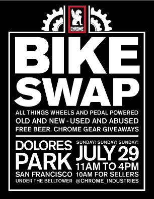 be sure to check out the dolores park bike swap meet. SUNDAY!
