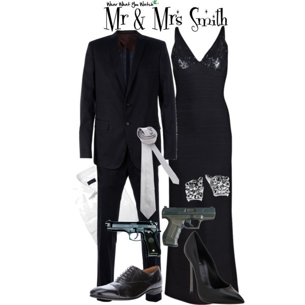 Brad Pitt and Angelina Jolie as Mr. & Mrs. Smith - Click here to purchase items from the set above.