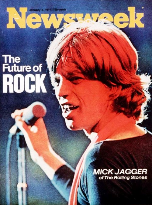 newsweek:  nwkarchivist:  Happy 69th, Mick Jagger!  The Lucifer of rock, the paradigm of the rock superstar as Pied Piper, tribal medicine man, unholy roller, the Dionysus of the rebellious young millions who in the 60's made rock music the official language of their unfocused but unmistakable disaffection from tradition.  Newsweek January 4, 1971  http://www.youtube.com/watch?v=-tRdBsnX4N4