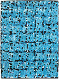 It's all a numbers game. Painting by Mel Bochner via julienfoulatier Milk&HoneyArt