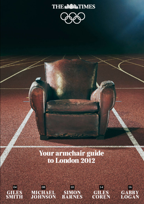 balconyjumpartists:  David Ryle shot this recent cover for the Times Olympic guide.