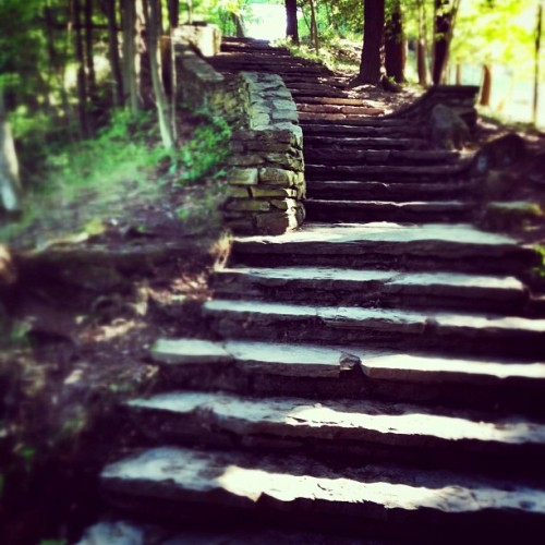 We went #hiking yesterday and I decided to run the 3/4miles worth of #stairs #trail #running #statepark   (Taken with Instagram)