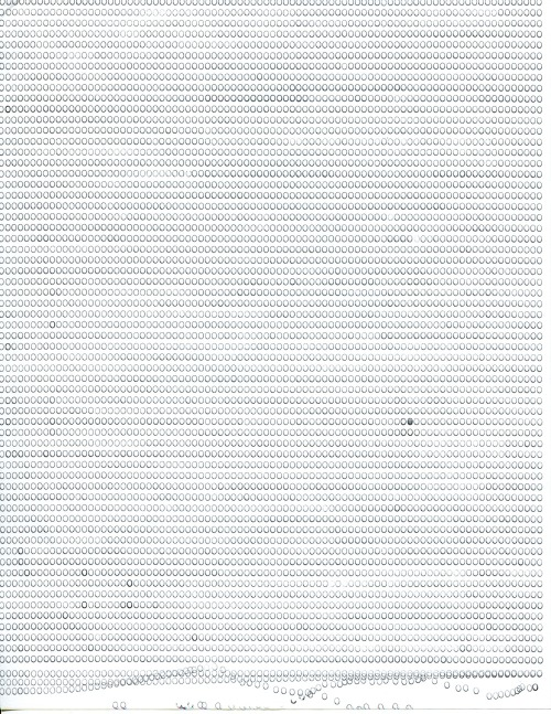 "0. 8.5"" x 11"". Manual typewriter on office paper."
