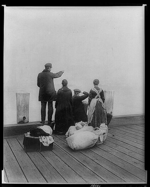 Ellis Island - 1912. I cannot begin to imagine what thoughts went through their heads as the long journey across the pond came to an end and they saw the tall buildings of NYC and the Statue of Liberty. What excitement and fear must have overwhelmed them.