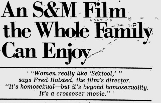 Village Voice article on Fred Halsted's Sextool (June 2, 1975)