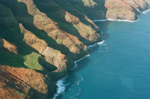 Flying over Kauai in a Helicopter made me nauseous, but it was so worth it.
