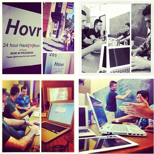 The Hovr Hack[IN]thon at INcubes was a success. Special thanks to @jldavid (JeanLucDavid.com), an international #Toronto Hackathon star, for bringing his energy to the event. Hovr's Robert Grezesi lead the hacking focus of the evening. Collaborative solutions were found. New ideas were born. This was the second Hackathon hosted at INcubes, and this tradition looks sure to continue.