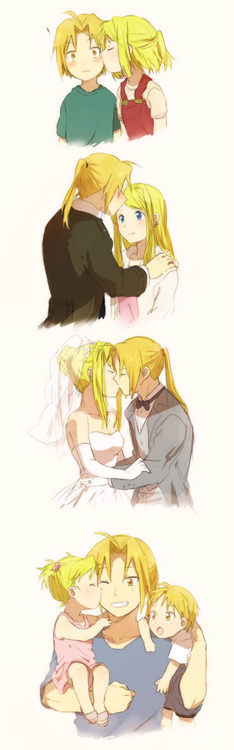 little-elric-girl:  i-the-otaku:  ☆ Awww~ ^^ ☆  OOC- Ow my heart </3 *FEELINGS*