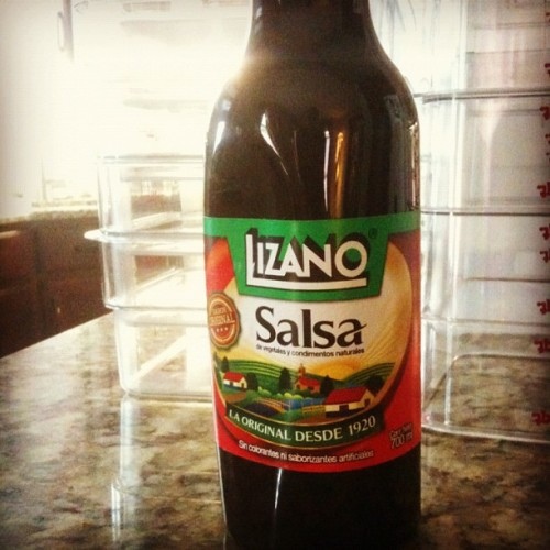 Excited to find Lizano sauce at Jay's Int'l. The taste of Costa Rica.  (Taken with Instagram)