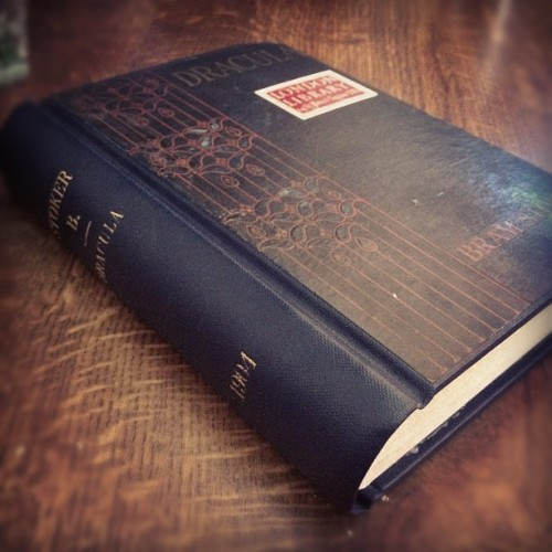 utopiarchive:  This gorgeous edition of Dracula is from 1904… (Taken with Instagram) …I'll be spending a week at the house in Whitby (it'll be empty *reclusive bibliophilic joy*), and what better place to re-read this (it's been an age since I read it)?! It also has genuine research potential for my thesis…