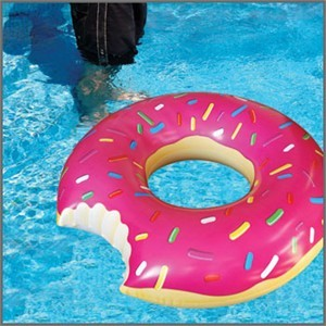 This Giant Donut Pool Float is a real Homer Simpson moment