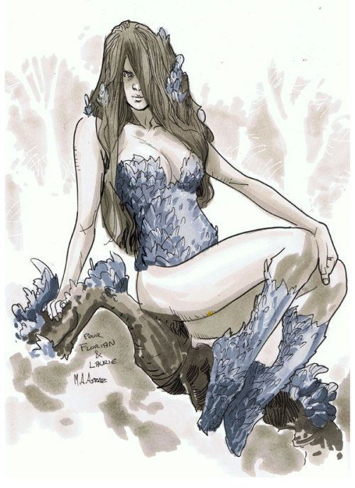 Comic Con Paris 2012 Convention Sketch - Poison Ivy