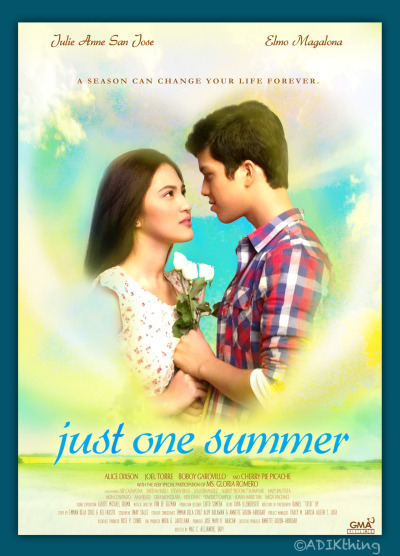 adikthing:  My version of the #JustOneSummer poster! :D -CTTO of the photo I used, and to the Official Poster for the font style reference and details :)  Ito un eh! I think this poster captured the whole story. Kudos to Adikthing. ONLY AN ADIK CAN DO THIS! Padala na to sa GMA PLEASE!