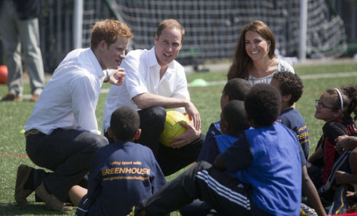 surisburnbook:  Is it just me, or do all of William and Kate's photo ops involve kids these days? I'm beginning to feel like I'm in some kind of psychological thriller, being slowly driven to insanity by photographs of Prince William smiling near a child.