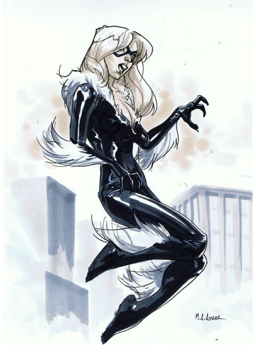 mahmudasrar:  Comic Con Paris 2012 Convention Sketch - Black Cat