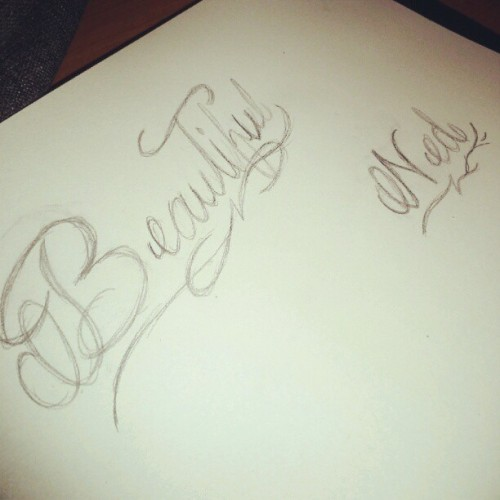@tessy_irene xD loving the script hand writing  (Taken with Instagram)