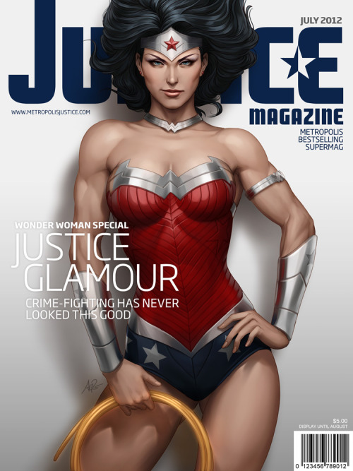 thoki4ever:  Justice Mag - Wonder Woman by `Artgerm