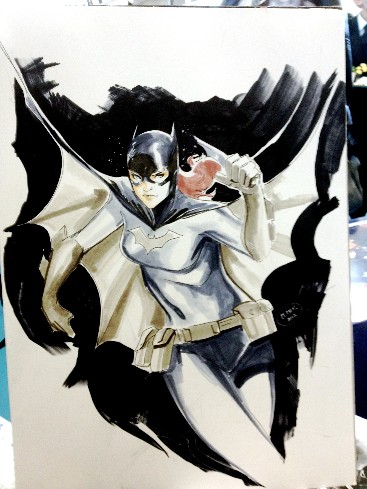 A fun piece i did for a fan in Perth. he than took it Yvonne Craig who who was also at the show and gave me a picture of there meeting. Later on the bus back from perth , when we we talking about the show she said she remembered that drawing and seemed surprised it was me. Fun memories in Perth and Sydney