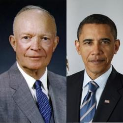 "Which former president's foreign policy does Barack Obama's resemble most closely? Pundits and, for that matter, the Obama campaign were right to ding Mitt Romney's foreign policy address Tuesday for banging the table instead of putting anything substantive on it. But what could Romney do? Obama has given him almost nothing to work with. Foreign affairs won't decide the 2012 election, but, if it did, President Obama would win walking away. Replying to Romney's speech, Robert Gibbs, an Obama adviser, said this: ""It's widely accepted that President Obama has an exceptionally strong record on national security issues, and I think, quite frankly, Mitt Romney is having a hard time making an argument against President Obama on these issues."" It pains me, as a supposedly crankily skeptical journalist, to agree with a partisan spin doctor, but here goes: Gibbs is right. Jonathan Rauch — ""Love Classic Republican Foreign Policy? Vote For Obama"""