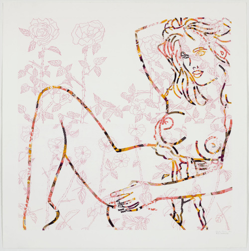 Lady in Pink - Collaboration GARF (2008)41x41Mixed media on paper