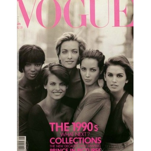 #Vogue 1990 feat. #NaomiCampbell #LindaEvangelista #CindyCrawford #TatjanaPatitz #ChristyTurlington  (Taken with Instagram)