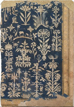 sombhatt:  Album Page with Cut-Paper Decoration, 1625–50,India