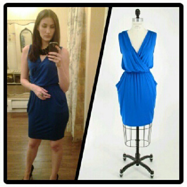 "Our very own Melinda recently wore this #michaelstars dress to a wedding. She says: ""I love that it's so comfy and the shape is very flattering. It's very versatile as well. It can be dressed up with a statement necklace and heels, or it can be very casual with sandals or flats. And I just love the color!"" We have this dress (and many more!) in stock right now…come get yours today! (Taken with Instagram at Kiwi)"