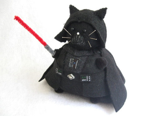 Cat Vader PlushieClick source to go to listing!Enjoy geeky swag? Follow me!