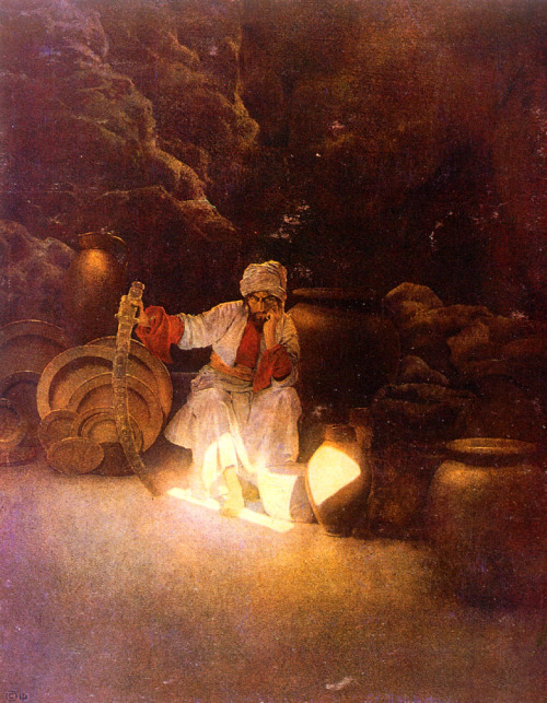 Ali Baba by Maxfield Parrish (1909)