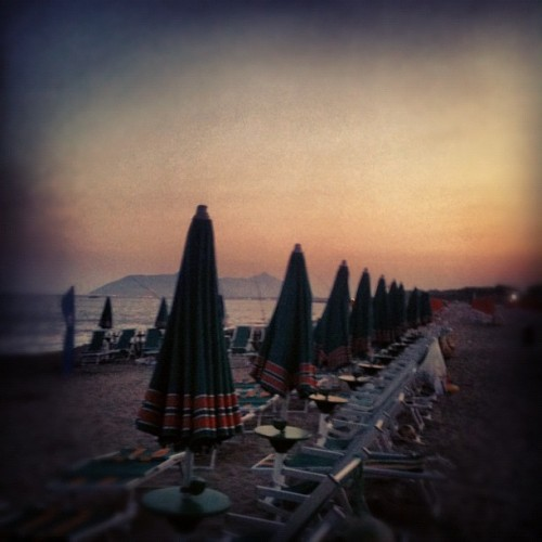 Summer on a solitary beach (Scattata con Instagram presso Spiaggia di Terracina)