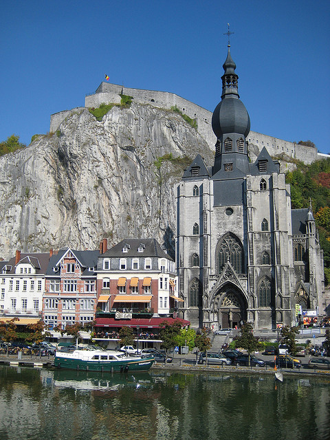 visitheworld:  The Collegiate Church of Notre-Dame in Dinant, Belgium (by sigfus.sigmundsson).