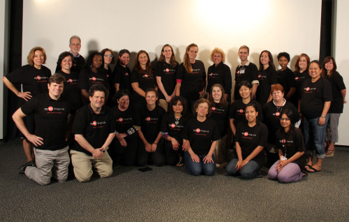 designlab-nysci:  Pictured are our 2012 Design Lab Fellows, a select group of teachers who invested a week of their summer toward learning about incorporating design projects into their science classes. A great success!  We enjoyed developing projects with them and very much look forward to hearing back about student work this fall!