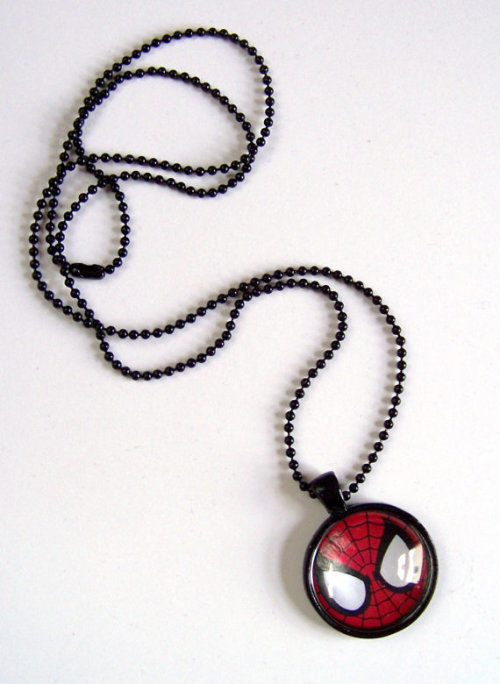 Spiderman NecklaceClick source to go to listing!Enjoy geeky swag? Follow me!